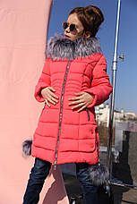 Зимнее пальто с капюшоном на девочку Кина нью вери (Nui Very), фото 3