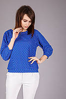Яскрава і ефектна блуза з структурного, немнущегося трикотажу розмір 42