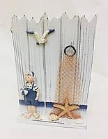 Ключница, 25х16х7,5 см, Моряк, Ящик для ключей, Ключник