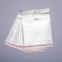 (14х15 см) Полипропиленовый упаковочный пакет-самоклейка с липкой лентой, 100 шт/уп