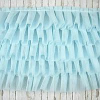 Фатин пятишаровый голубой, ширина 17см, отрез 30см