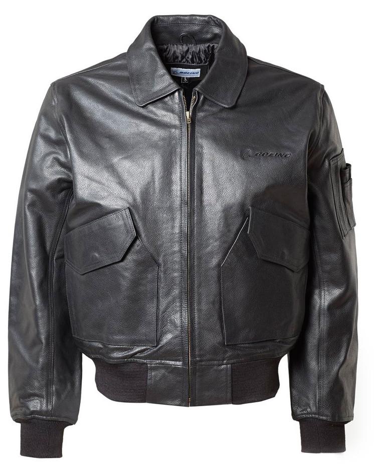 e000f8218234 Кожаная Куртка Boeing CWU 45 P Leather Bomber Jacket (черная) — в ...