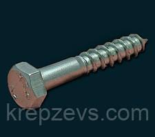Шуруп (глухарь) по дереву с шестигранной головкой из нержавеющей стали, DIN 571