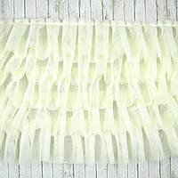 Фатин пятишаровый бледно - желтый, ширина 17см, отрез 30см