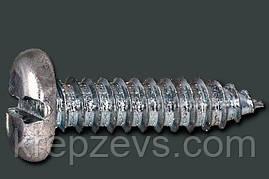 Саморез нержавеющий  с полукруглой головкой шлиц прямой, DIN 7971