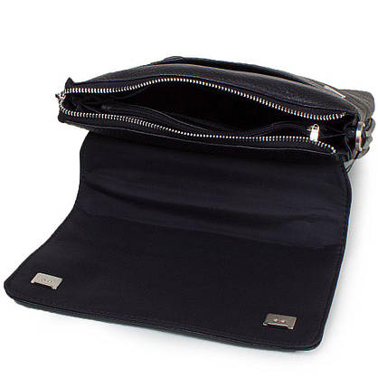 Мужская кожаная сумка LARE BOSS (ЛАРЕ БОСС) TU49560-3-black, фото 3