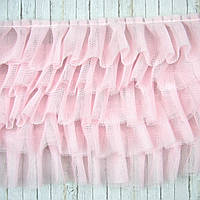 Фатин пятишаровый розовый, ширина 17см, отрез 30см