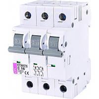 Автоматичний вимикач ETIMAT 6 3p C16, фото 1