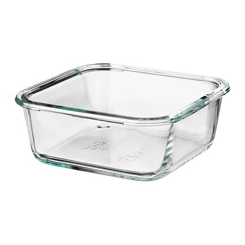 Контейнер для хранения продуктов IKEA 365+ 600 мл квадратный стеклянный 003.592.06