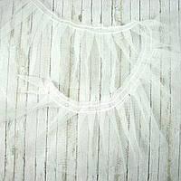 Фатин белый ширина 9см, отрез 1 ярд