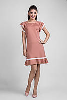 Летнее приталенное женское платье размер 44,46