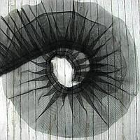 Фатин черный, ширина 9см, отрез 50см