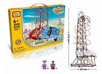 Электромеханический конструктор Loz «Amusement Park Roller Coaster» (785 деталей)
