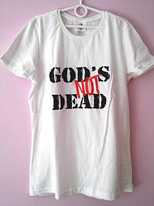 """Футболка """"god's not dead"""". Приталений покрій"""
