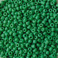 Бисер китайский зеленый матовый 50 грамм