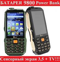 Защищенный противоударный телефон ленд ровер Land Rover (Dbeif) D2017 2sim, батарея 9800 mAh+ TV+ Power Bank