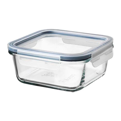 Контейнер для хранения продуктов IKEA 365+ 600 мл с крышкой квадратный стеклянный 392.691.20