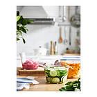 Контейнер для хранения продуктов IKEA 365+ 600 мл круглый стеклянный 303.591.96, фото 3