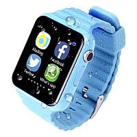 Smart Baby Watch Умные детские смарт-часы V7K!  Синий
