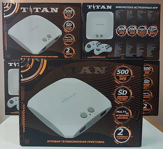 Игровая приставка Титан 3 500 встроенных игр Dendy 8 Bit Sega Mega Drive 2 Денди Сега Мега Драйв 2
