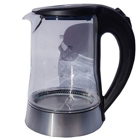 Электрочайник стекло DT 704 черный 2 литра распродажа