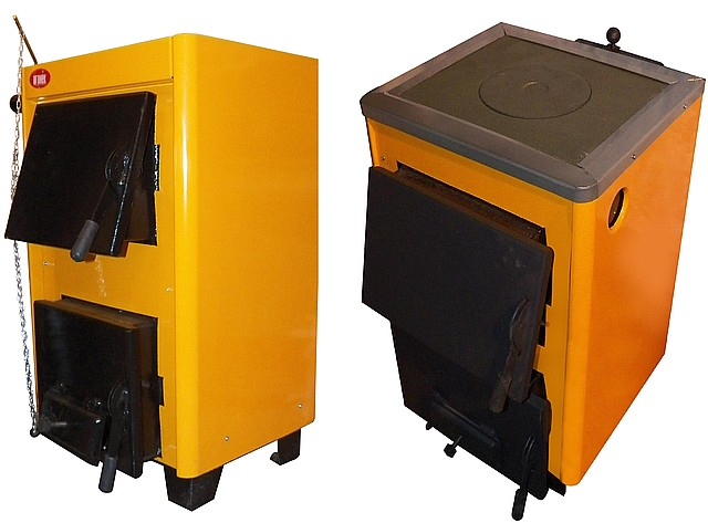 КОТВ-10П Твердопаливний котел з плитою.