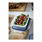 Контейнер для хранения продуктов IKEA 365+ 1 л прямоугольный пластик 403.591.48, фото 2