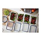 Контейнер для хранения продуктов IKEA 365+ 1 л прямоугольный пластик 403.591.48, фото 4