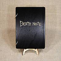 Скетчбук Death Note. Блокнот с деревянной обложкой.