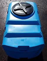 Дарим 90 грн на доставку. Бак, бочка, емкость 300 литров пищевая прямоугольная, крышка d 35 см SК, фото 2