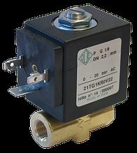 Электромагнитный клапан прямого действия 21TG1KR0V40 (ODE, Italy), G1/8
