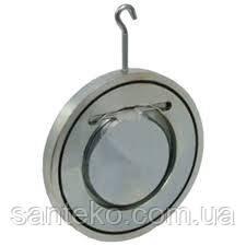 Клапан обратный Ду40 стальной межфланцевый одностворчатый Ру16