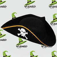 Шляпа Пирата треуголка фетр
