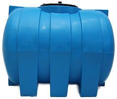 Емкость 500 литров бак, бочка пищевая горизонтальная G