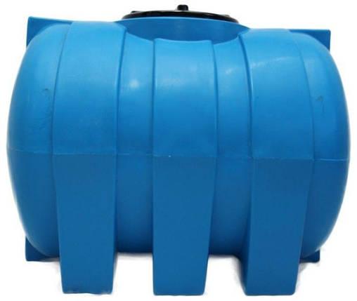 Емкость 500 литров бак, бочка пищевая горизонтальная G, фото 2