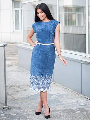 Женское платье с натуральной ткани.