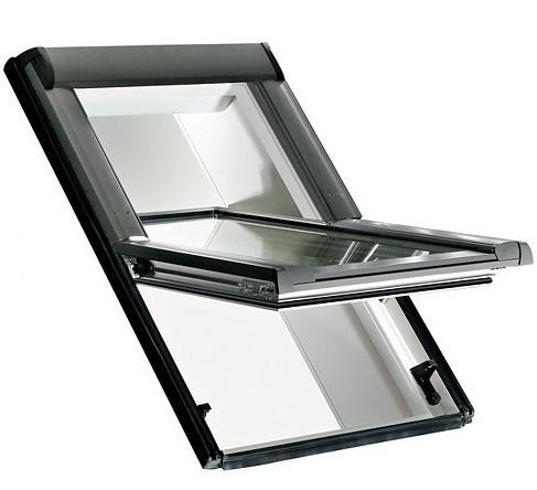 Мансардное окно Roto Designo R45 K 6/11 (ПВХ рама, однокамерный стеклопакет с Аргоном)