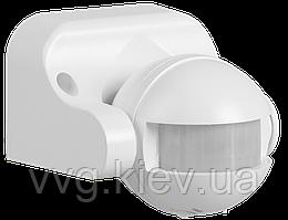 Датчик движения ДД 009 белый, максимальная нагрузка 1100Вт, угол обзора 180 градусов, дальность 12м, IP44, IEK