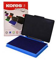 Штемпельная подушка  Kores 7*11, синяя, K71570