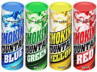 Цветной дым, набор из 4-х дымов, 35 сек., дым зеленый, жёлтый, зеленый