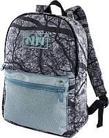 Школьный рюкзак для девочки серого цвета