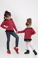 Детский красный джемпер для девочки-подростка