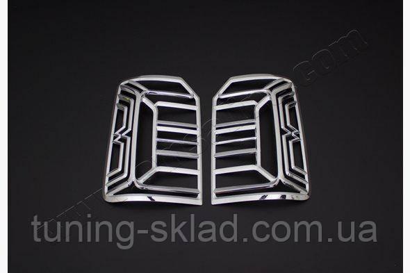Хром накладки на стопы Volkswagen Caddy 2015+ гг. (Фольксваген Кадди)