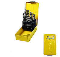 Набор сверл для металла, 19 шт HSS белые(1-10 мм, шаг 0,5 мм) в металлической коробке MasterTool 11-0119
