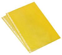 Файл А4, плотность 40мкм, желтый цвет, полупрозрачный, Optima