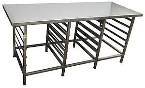 Стол-подставка для пароконвектомата   1300х700х850 с направляющими GN 1\1