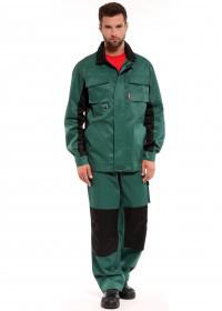 Костюм с полукомбинезоном рабочий зеленый  ОПТИМА