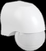 Датчик движения ДД 010 белый, максимальная нагрузка 1100Вт, угол обзора 180 градусов, дальность 10м, IP44, IEK