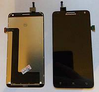 Дисплей (экран) для Lenovo S580 + тачскрин, черный, оригинал