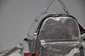 Кожаный рюкзак женский серебро Lazurite 0791-1744, фото 3